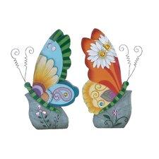 Beautiful Butterfly Decor Statue (Set of 2)