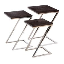 <strong>Woodland Imports</strong> 3 Piece Nesting Tables