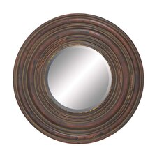 Wood Wall Circular Shaped Mirror