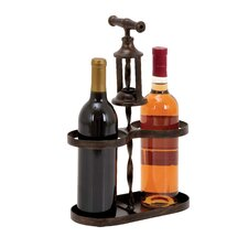 <strong>Woodland Imports</strong> 2 Bottle Tabletop Wine Rack