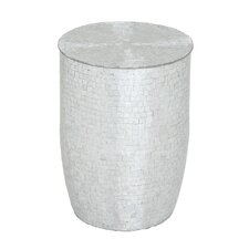 <strong>Woodland Imports</strong> Metal Mirror Mosaic Stool