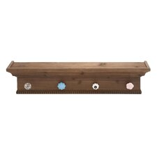 Wood Shelf Coat Rack