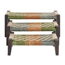 3 Piece Wood Bench Set