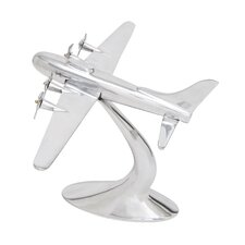 Aluminum Airplane Décor Sculpture