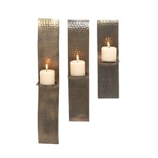 3 Piece Metal Sconce Set