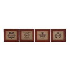 Wooden Wall Art (Set of 4)