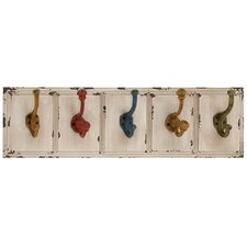<strong>Woodland Imports</strong> Country Inspired Wood and Metal Wall Hooks