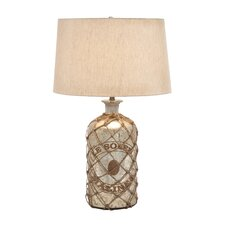 "27"" H Tinted Glass Table Lamp"
