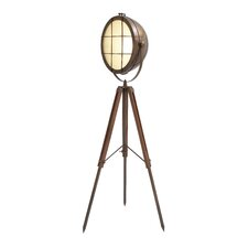 Metal Wood Foldable Spot Light Floor Lamp