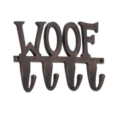 "Aluminum ""Woof"" Wall Hook"