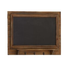 <strong>Woodland Imports</strong> Wood Blackboard Coat Rack