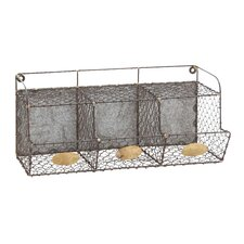Hand Crafted Metal Wire Wall Rack