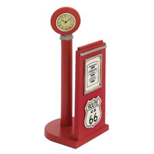 "<strong>Woodland Imports</strong> ""US 66"" Gas Pump Paper Holder Sculpture"