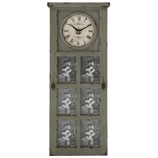 <strong>Woodland Imports</strong> Rustic and Stately Design Wall Clock