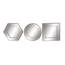3 Piece Geometrical Wall Mirror Set