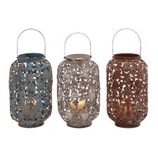 <strong>Woodland Imports</strong> Lantern (Set of 3)