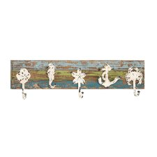 <strong>Woodland Imports</strong> Fanatical Figurine Wood and Metal Coat Rack