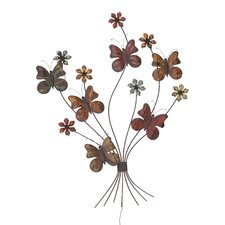 Victorian Styled Floral Butterflies Wall Décor