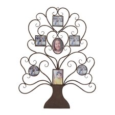 Metal Tree Shaped Picture Frame