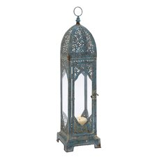 Old World Charm and Vintage Metal Glass Lantern