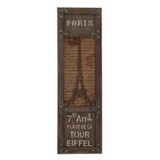 Eiffel Tower Themed Wooden Framed Wall Décor