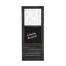 "American Styled Metal Wall Panel 3' x 1' 3"" Chalkboard"
