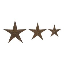 <strong>Woodland Imports</strong> 3 Piece Manhattan Star Wall Décor Set