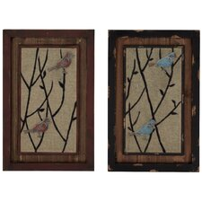 <strong>Woodland Imports</strong> 2 Piece Wall Décor Set
