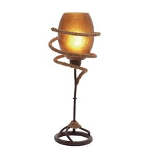 "Rope Torchiere 21"" H Table Lamp with Bell Shade"