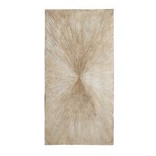 Cotton Canvas and Wood Wall Art