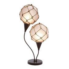 """Metallic Fishing Net 28"""" H Table Lamp"""