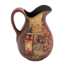 Yangtze Décor Ceramic Pitcher for Summer Blooms