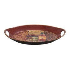 <strong>Woodland Imports</strong> Hawaiian Chi-Chui Decor Ceramic Serving Tray