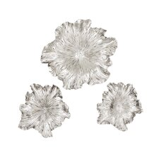 3 Piece Floral Wall Plaque Set