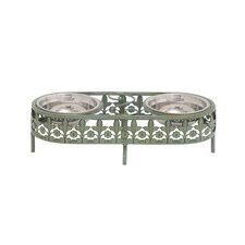 Metal Framed and Steel Bowl Pet Feeder