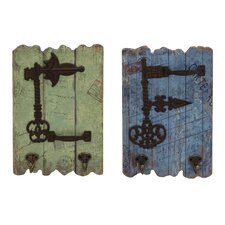 <strong>Woodland Imports</strong> 2 Piece Wall Hooks Set
