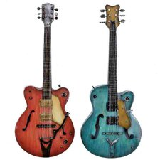 <strong>Woodland Imports</strong> 2 Piece Guitar Wall Décor Set