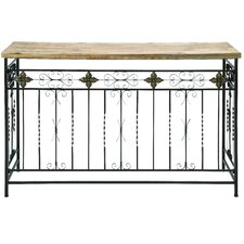 <strong>Woodland Imports</strong> Rustic Console Table