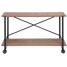 Accent Metal Wood Console Table