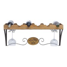 <strong>Woodland Imports</strong> 6 Bottle Hanging Wine Rack