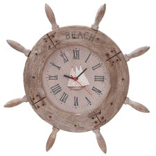"20"" Ship Wheel Wall Clock"