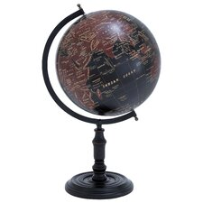 <strong>Woodland Imports</strong> Long Lasting Metal Wooden Globe