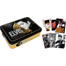 Elvis Playing Card Tin Set