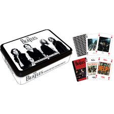 Beatles Black Playing Card Tin Set