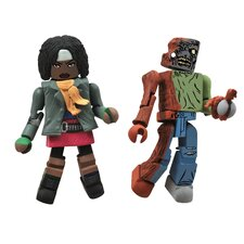The Walking Dead Minimates Series 2: Michonne and Zombie (Set of 2)