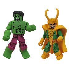 <strong>Diamond Selects</strong> Marvel Minimates Best of Series 2: Hulk and Loki (Set of 2)