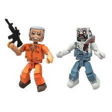 The Walking Dead Minimates Series 3: Hershel and Farmer Zombie (Set of 2)