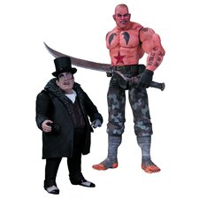 Batman Arkham City 2 Piece Sickle and Penguin Action Figure Set
