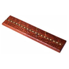 "Wooden 12 "" Double Track Cribbage Board"