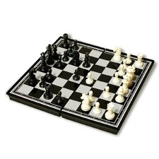 "<strong>Sunnywood</strong> 9.75"" Plastic Magnetic Chess Set"